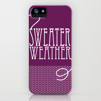 Sweater Weather... iPhone & iPod Case by Kate