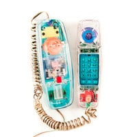 Vintage Telephone Retro Phone 1980s Geek Chic by goodmerchants