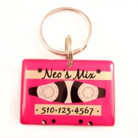 Pink Tape Pet ID Tag | metamorphdesigns - Pets on ArtFire