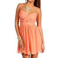 Elly-Peach Short Homecoming Dress