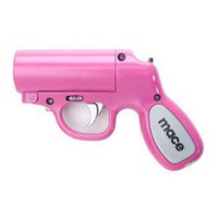 Mace Pepper Spray Gun - Pink with Pepper Spray Cartridge and a Water Practice Cartridge