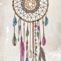 Lakota (Dream Catcher) Art Print by Rachel Caldwell