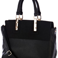 BLACK TWO TONE BAG