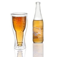 Amazon.com: Hopside Down Beer Glass, Double Wall Beer Glass - No more warming your beer with your hands.: Kitchen &amp; Dining