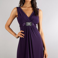 V-neck Short Semi Formal Dress
