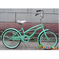 Amazon.com: 20&quot; Beach Cruiser Bicycle Micargi Jetta Girls Kids Children Bike Mint Green: Sports &amp; Outdoors
