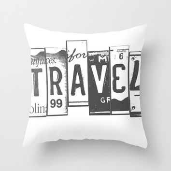 Travel Throw Pillow by Courtney Burns