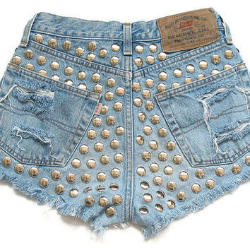 High waist shorts by deathdiscolovesyou on Etsy