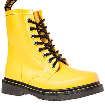 The Drench 8-Eye Boot in Matt Yellow