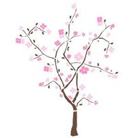 ROOMMATES RMK1555GM Spring Blossom Peel &amp; Stick Giant Wall Decal