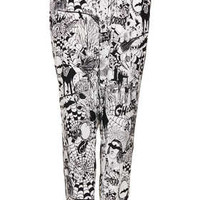 Horror Print PJ Jogger Trousers