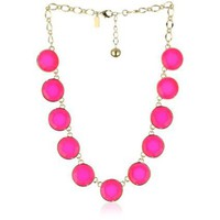 Kate Spade New York &quot;Baublebox&quot; Pink Short Necklace - designer shoes, handbags, jewelry, watches, and fashion accessories | endless.com