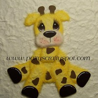 Gina Giraffe Sitting Tear Bear Paper Piecing Embellishment By Patty | Luulla