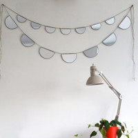 RESERVED FOR KIM / / / Mirror Bunting Small Half Circle Banner Garland Strand