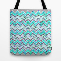 Mint Waves Tote Bag by Ornaart