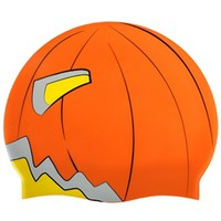 Sporti Scary Pumpkin Silicone Swim Cap at SwimOutlet.com