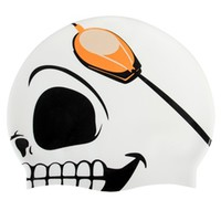 Sporti Skull Silicone Swim Cap at SwimOutlet.com