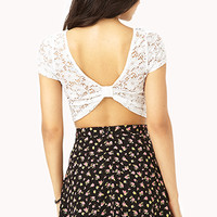 Showstopper Crochet Crop Top | FOREVER 21 - 2000072459