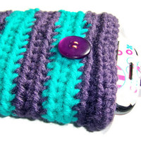 Striped Crochet Cell Phone Cozy  from Mizziexoxo Boutique