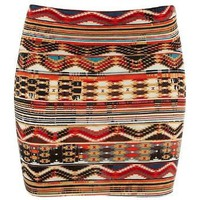 Wurl Ethnic Vibe Tribal Bodycon Skirt