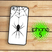iPhone 5 / 5S Case Black Spider  / Hard Case For iPhone 5 80s child unicorn art. Plastic or Rubber Trim