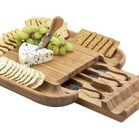 One Kings Lane - Be the Best Guest - Malvern Cheese Board Set, Bamboo