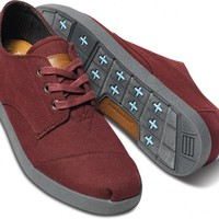 Burgundy Canvas Men's Paseos