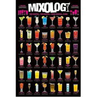 Mixology (Cocktail Recipe Chart) Art Poster Print - 24x36