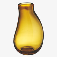 MELT BROWNS Glass Amber glass vase - Home  Accessories-             HabitatUK