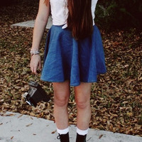 Circle Skater Skirt High Waisted Custom Made Tumblr
