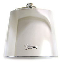 Violin 6 oz. Stainless Steel Flask