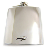 Shark 6 oz. Stainless Steel Flask