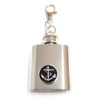 Black Anchor 1 oz. Stainless Steel Key Chain Flask