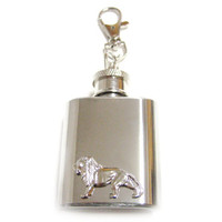 Lion 1 oz. Stainless Steel Key Chain Flask