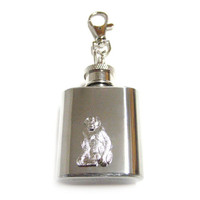 Monkey 1 oz. Stainless Steel Key Chain Flask