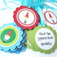 Gnome Gift Favor Tags Birthday, Baby Shower Party from Adorebynat