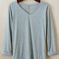 Lounge By The Lake Lightweight Sweater, Heather Gray