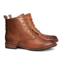 Leather boots - from H&M