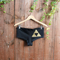 Triforce from the Legend of Zelda Undies/Booty Shorts - Made to Order - Customize
