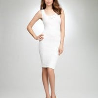 bebe Femme Lace Tank Bodycon Dress