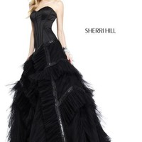 Sherri Hill Prom Dresses and Sherri Hill Dresses 9501 at Peaches Boutique