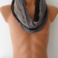 Men's Fashion Scarf - Christmas Gift - Cotton Man Scarf - Gray - For Him