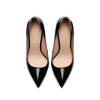 POINTED FAUX PATENT LEATHER COURT SHOE - Shoes - TRF | ZARA United States