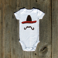 Cinco de Mayo Sombrero Onesuit Funny Baby by TheWishingElephant