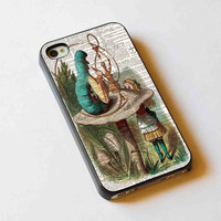 iphone case,ALICE IN WONDERLAND Hookah Caterpillar,iphone 5 case,iphone 4/4s case,samsung s3,s4 case,accesories,cell phone,hard plastic.
