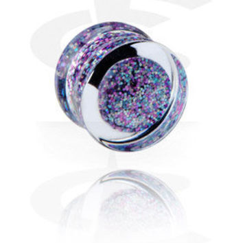 Plug with Glitter[Acryl] - Crazy Factory Piercing