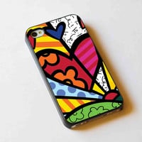 iphone case,Romero Britto Pop Art Love,iphone 5 case,iphone 4/4s case,samsung s3,s4 case,accesories,cell phone,hard plastic.