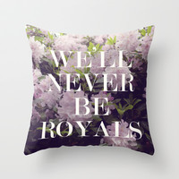 Royals Throw Pillow by Leah Flores Designs