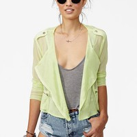 Mesh Moto Jacket in What's New at Nasty Gal