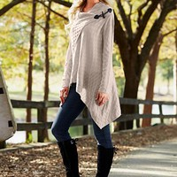 Oatmeal Basket weave sweater, skinny jean, boot from VENUS